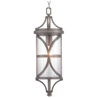 Morrison 1 Light 8 inch Antique Pewter Outdoor Hanging Lantern, Design Series