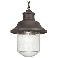 Progress P550043-129 Weldon 1 Light 10 inch Architectural Bronze Outdoor Hanging Lantern