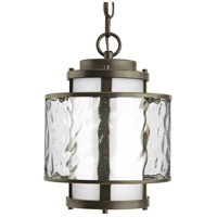Progress P5589-20 Bay Court 1 Light 9 inch Antique Bronze Outdoor Hanging Lantern photo thumbnail