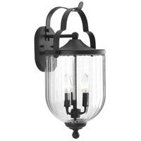 Progress P560064-031 McPherson 3 Light 20 inch Textured Black Outdoor Wall Lantern, Large