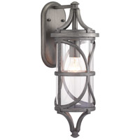 Morrison 1 Light 21 inch Antique Pewter Outdoor Wall Lantern, Design Series