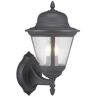 Progress P560135-031 Westport 2 Light 19 inch Textured Black Outdoor Wall Lantern Medium