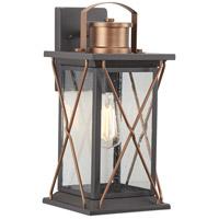 Progress P560157-020 Barlowe 1 Light 16 inch Antique Bronze Outdoor Wall Lantern Medium