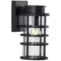 Progress P560168-031 Port Royal 1 Light 13 inch Textured Black Outdoor Wall Lantern with DURASHIELD Small