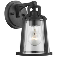 Progress P560177-031 Benton Harbor 1 Light 10 inch Black Outdoor Wall Lantern Small with Durashield
