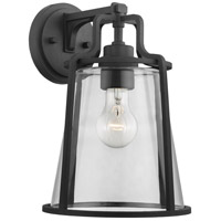 Progress P560185-031 Benton Harbor 1 Light 13 inch Textured Black Outdoor Wall Lantern, with DURASHIELD, Large