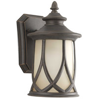 Progress P5987-122 Resort 1 Light 11 inch Aged Copper Outdoor Wall Lantern, Small