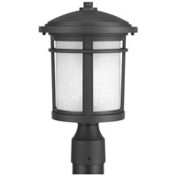 Progress P6424-31 Wish 1 Light 15 inch Textured Black Outdoor Post Lantern in Standard