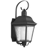Progress P6620-31MD Andover 1 Light 18 inch Textured Black Outdoor Wall Lantern, Medium