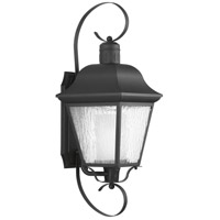 Progress P6621-31MD Andover 1 Light 26 inch Textured Black Outdoor Wall Lantern, Large