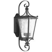Progress P6626-31CD Cadence 1 Light 19 inch Textured Black Outdoor Wall Lantern, Small, Design Series