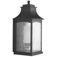 Progress P6636-31MD Maison 1 Light 19 inch Textured Black Outdoor Wall Lantern Large Design Series
