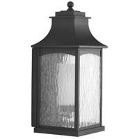 Progress P6636-31MD Maison 1 Light 19 inch Textured Black Outdoor Wall Lantern, Large, Design Series