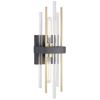 Orrizo 2 Light 6 inch Black Wall Sconce Wall Light, Design Series