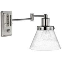 Progress P710084-009 Hinton 12 inch 60 watt Brushed Nickel Swing Arm Wall Light