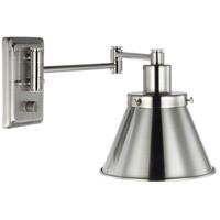 Progress P710085-009 Hinton 12 inch 60 watt Brushed Nickel Swing Arm Wall Light
