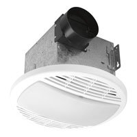 Progress Lighting Signature 1 Light Bath Fan in Textured White PV003-30
