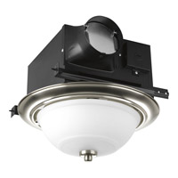 Progress Lighting Signature 2 Light Bath Fan in Brushed Nickel PV008-09STRWB