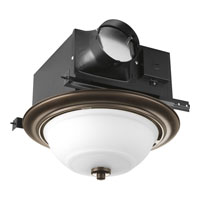 Progress Lighting Signature 2 Light Bath Fan in Venetian Bronze PV008-74STRWB