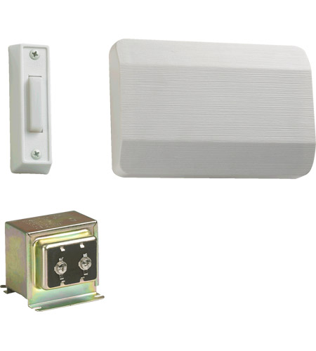 Quorum 101-1-6 Lighting Accessory White Single Entry Doorbell in 1 photo
