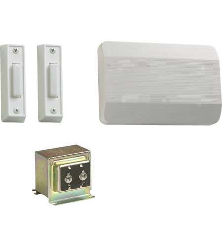 Quorum 101-2-6 Lighting Accessory White Double Entry Chime Doorbell in 2, 1 photo