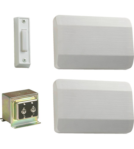 Quorum 102-1-6 Lighting Accessory White Single Entry Doorbell in 1, 2 photo