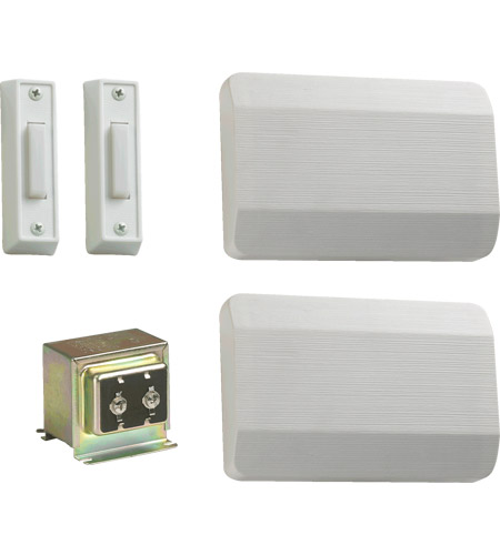 Quorum 102-2-6 Lighting Accessory White Double Entry Chime Doorbell in 2 photo
