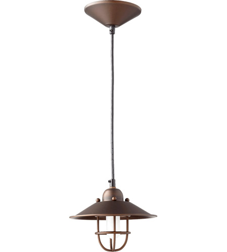 caged lighting. quorum 131086 caged 1 light 7 inch oiled bronze mini pendant ceiling lighting