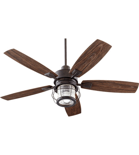 Quorum 13525-44 Galveston 52 inch Toasted Sienna with Walnut Blades Outdoor Ceiling Fan photo
