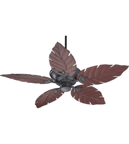 Quorum 135525-44 Monaco 52 inch Toasted Sienna with Rosewood Blades Outdoor Ceiling Fan  photo