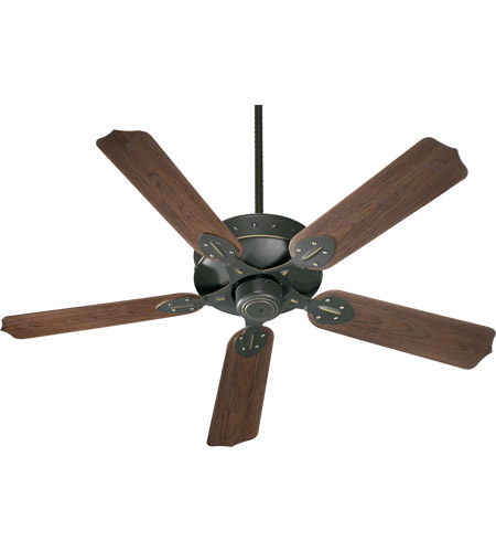 Quorum 137525-95 Hudson 52 inch Old World with Walnut Blades Outdoor Ceiling Fan photo
