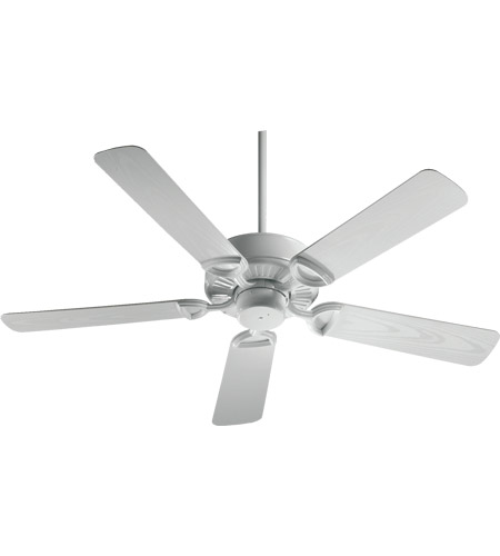 Quorum 143525-6 Estate Patio 52 inch White Outdoor Ceiling Fan in Light Kit Not Included  photo