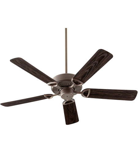 Quorum 143525 86 Estate Patio 52 Inch Oiled Bronze With Walnut Blades Outdoor  Ceiling Fan In Light Kit Not Included