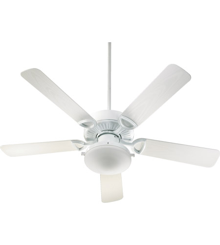 Quorum 143525-906 Estate Patio 52 inch White Outdoor Ceiling Fan in Satin Opal  photo