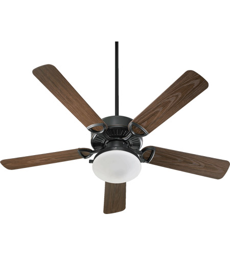 Quorum 143525-995 Estate Patio 52 inch Old World with Walnut Blades Outdoor Ceiling Fan in Satin Opal photo
