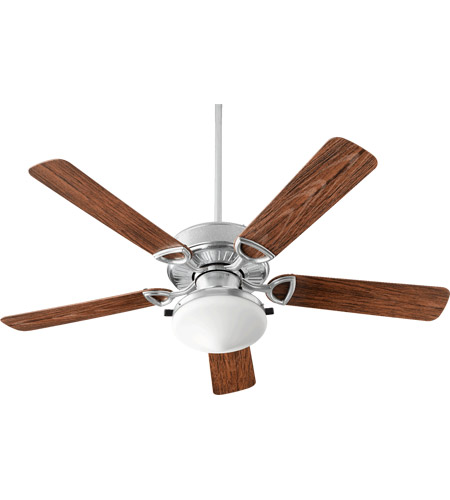 Quorum 1435259924 Estate Patio 52 inch Galvanized with Walnut Blades Patio Fan photo