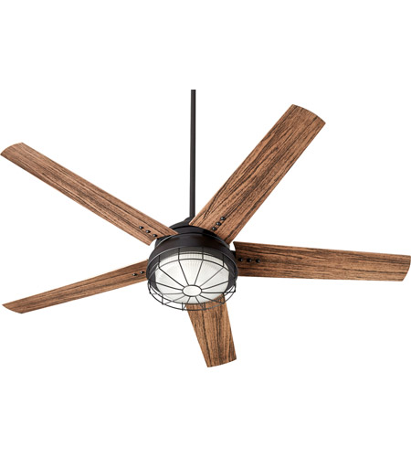 Quorum 16605 69 Westland 60 Inch Noir With Walnut Blades Patio Fan