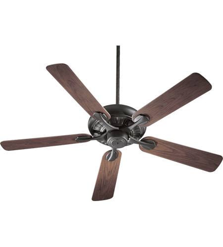 Quorum 191525-95 Pinnacle Patio 52 inch Old World with Walnut Blades Outdoor Ceiling Fan photo