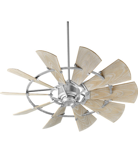 quorum windmill ceiling fan barn interior quorum 1952109 windmill 52 inch galvanized with weathered oak blades patio fan collection