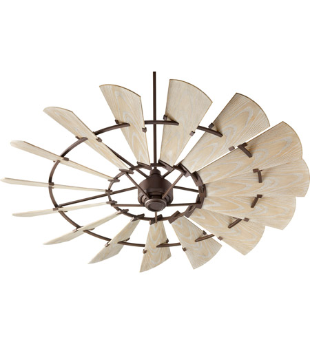 Quorum 197215-86 Windmill 72 inch Oiled Bronze with Weathered Oak Blades Outdoor Ceiling Fan  photo