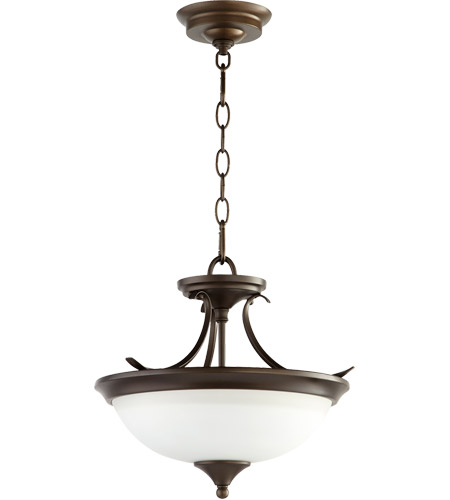 Quorum 214-14-86 Flora 2 Light 14 inch Oiled Bronze Dual Mount Ceiling Light photo thumbnail