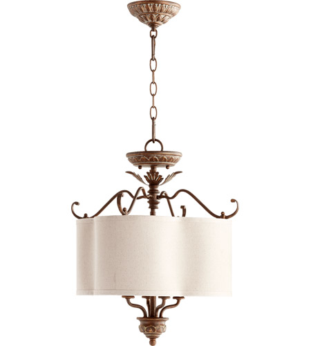 Quorum 2706-18-39 Salento 4 Light 18 inch Vintage Copper Dual Mount Ceiling Light photo