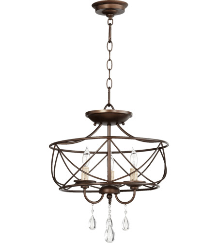 Quorum 2716-16-86 Cilia 3 Light 16 inch Oiled Bronze Dual Mount Ceiling Light photo thumbnail