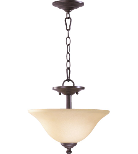 Spencer 2 Light 13 Inch Toasted Sienna Dual Mount Ceiling