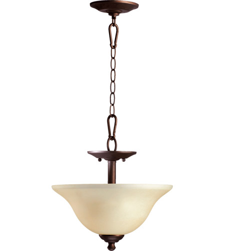 Quorum 2810 13 86 Spencer 2 Light 13 Inch Oiled Bronze Dual Mount Ceiling Light