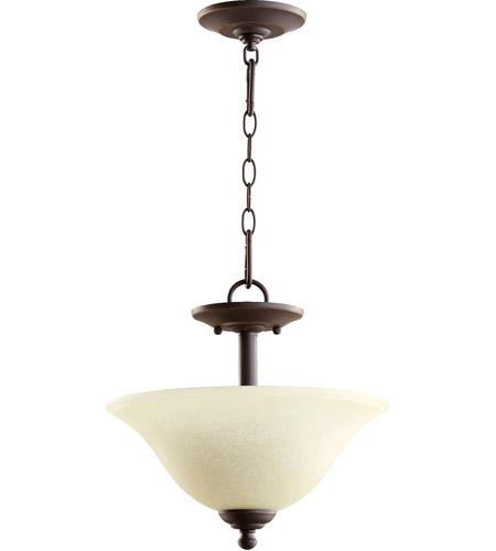 Quorum 2810 13 95 Spencer 2 Light 13 Inch Old World Dual Mount Ceiling Light