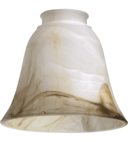 Quorum 2814 Signature Faux Brown Alabaster 6 inch Glass Shade photo