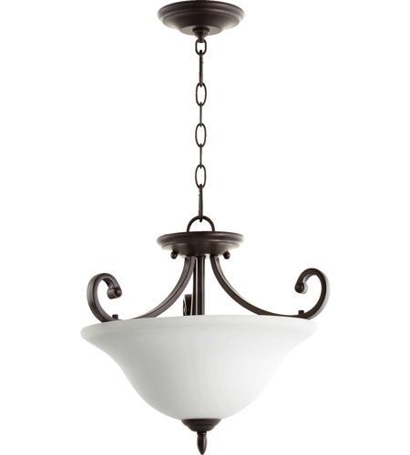 Quorum 2854-18186 Bryant 3 Light 18 inch Oiled Bronze Dual Mount Pendant  Ceiling Light