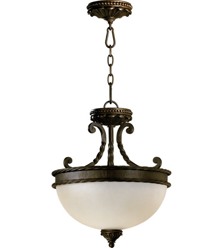 Quorum 2886-15-86 Alameda 2 Light 15 inch Oiled Bronze Dual Mount Ceiling Light photo