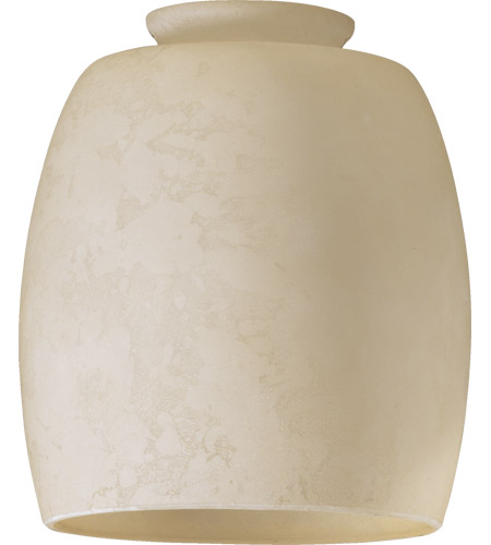 Quorum 2943E Signature Cream Mottled Scavo 4 inch Glass Shade photo